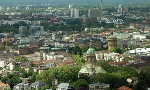 Blick auf Malu (Mannheim/ Ludwigshafen)