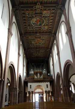 Kassettendecke der Bonifatiuskirche