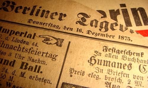 Zeitung von  1875