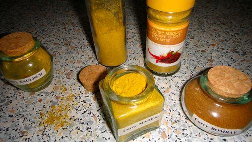 Indischgelbe Currys