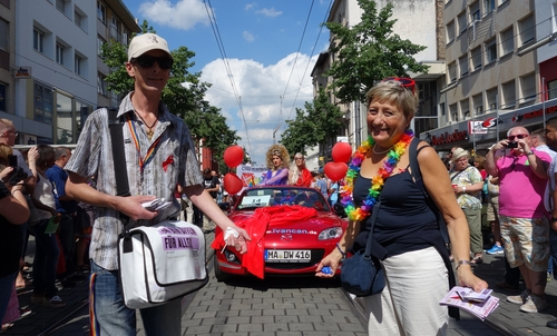 Cabrio der AIDS-Hilfe Heidelberg