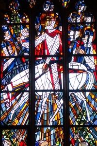 Kirchenfenster über derm Eingang