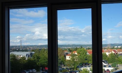 Blick auf Dresden vom Hotelfenster
