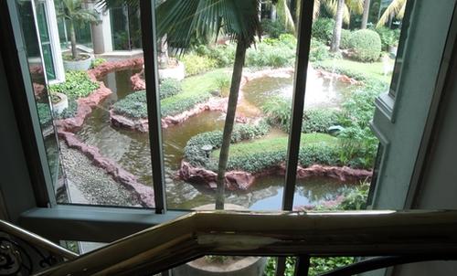 Blick in den Hotelpark