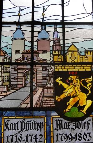 Fenster im Rathaussaal