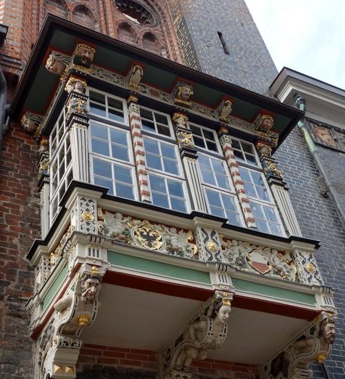 Fenster des Lübecker Rathaus