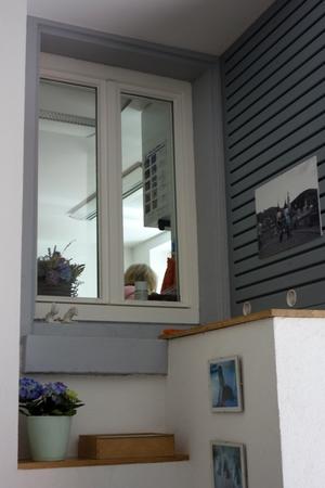 Fenster zum Behandlungsraum