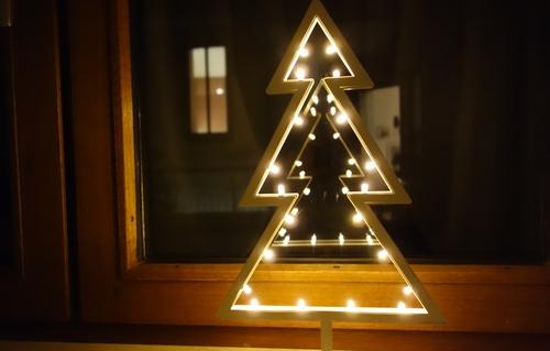 Fensterdeko weihnachtlich