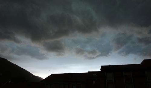 Gewitterhimmel über Heidelberg