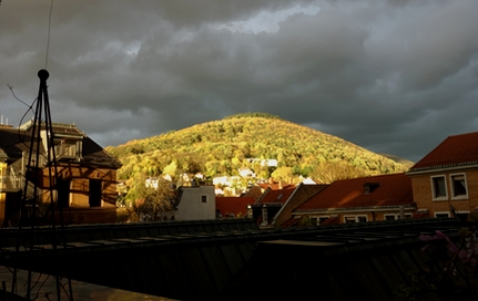 Himmel über dem Heiligenberg