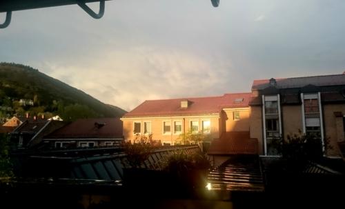 Sonnenschein nach dem Gewitter