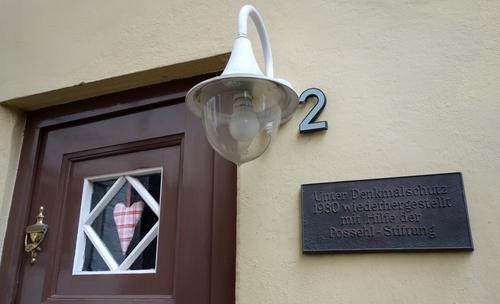 Hausnummer in Lübeck
