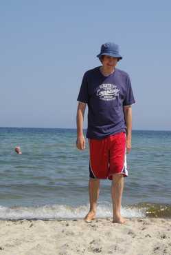 Dieter am Strand
