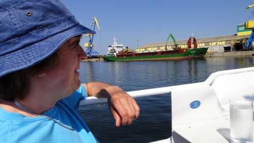 Dieter auf dem Schiff