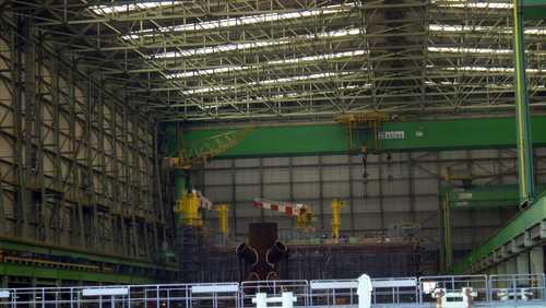 Blick ins Innere der Werft