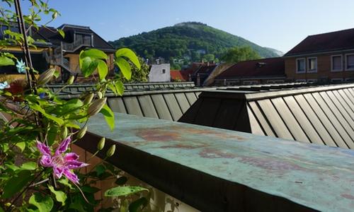 Leicht rostiges Blech auf dem Balkon