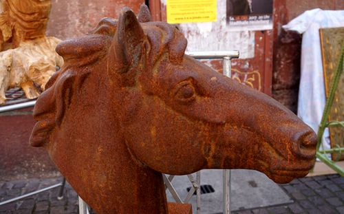 Rostiger Pferdekopf