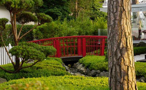 Rote chinesische Brücke