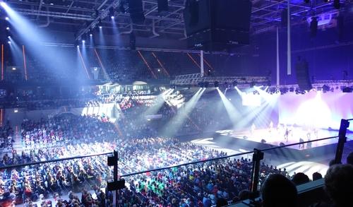 Blick von unserer Loge in die Arena