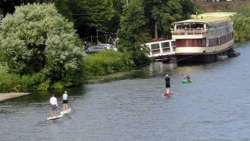 SUPen auf dem Neckar