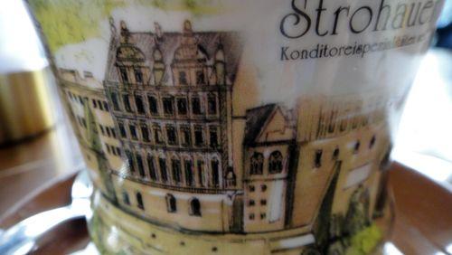 Kaffeetasse mit Schlossmotiv