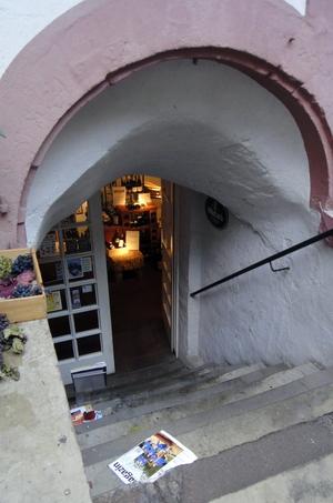 Tür zum Wein Atrium
