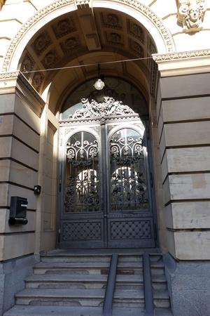 Eingangstür der Musikschule Mannheim
