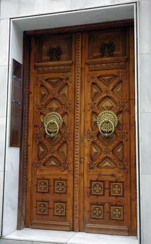 Tür in der Fussgängerzone