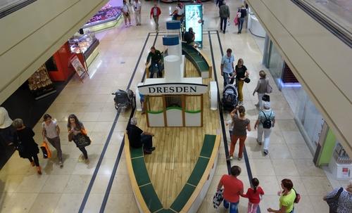 Schiff in der Altmarktgalerie