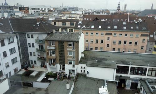 Blick auf Q5 in Mannheim