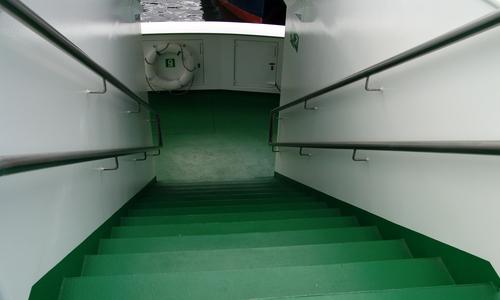 Treppe auf dem Schiff