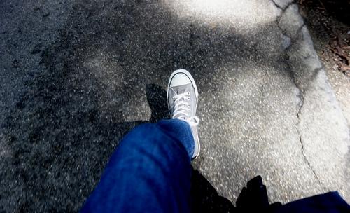 Blick auf mein Bein