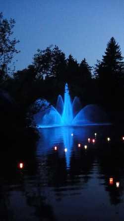 Illuminierter Jakobsweiher