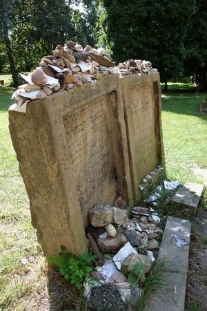 Grabsteine von Meir von Rothenburg († 1293) und Alexander ben Salomon Wimpfen († 1307)